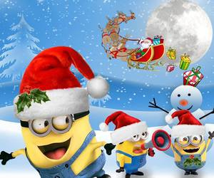 christmas, minions, and winter image