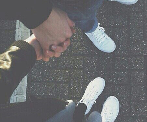 couple, white shoes, and each image