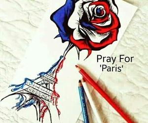 paris, prayforparis, and art image
