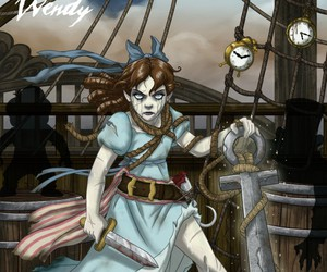 wendy, disney, and peter pan image