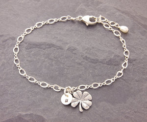 etsy, four leaf clover, and personalized jewelry image