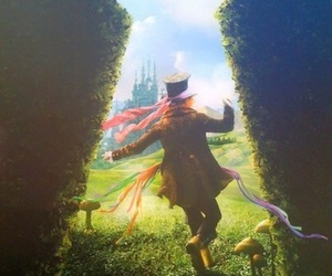 wonderland, alice in wonderland, and johnny depp image