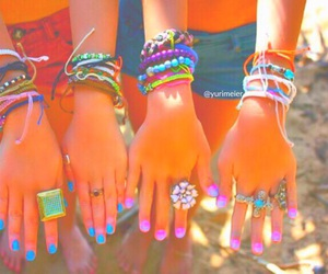 nails, bracelet, and summer image