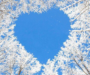 heart, winter, and snow image