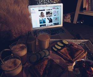 breakfast, sandwich, and coffee image