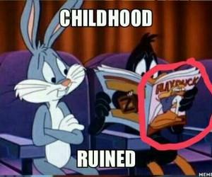 bunny, childhood, and funny image