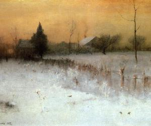 paintings, nature, and winter image