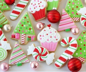 candy, christmas, and cookie image