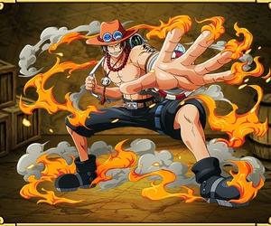 anime, portgas d. ace, and one piece image