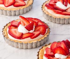 strawberry, cake, and cream image