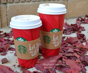 starbucks, drink, and winter image