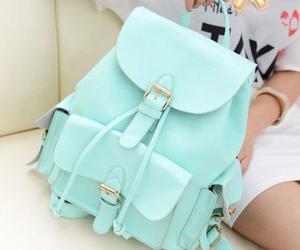 bag, backpack, and blue image