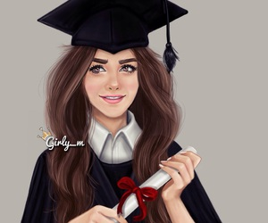 girly_m, graduation, and drawing image