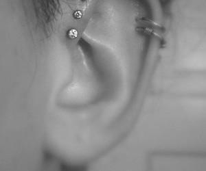 piercing, earrings, and helix image