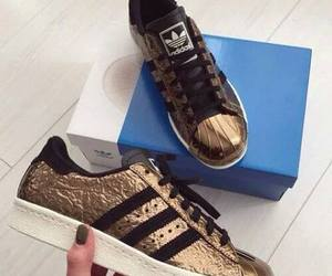 adidas, gold, and adidas superstar image