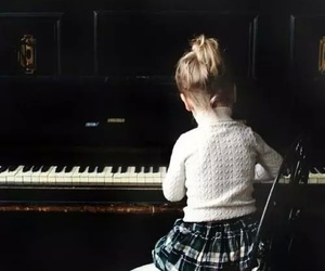 piano, child, and kids image