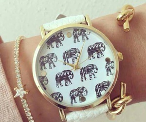 elephant, watch, and fashion image