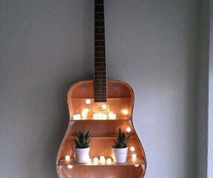 guitar, light, and diy image