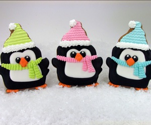 christmas, Cookies, and penguins image