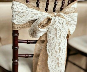 chair, wedding, and burlap image