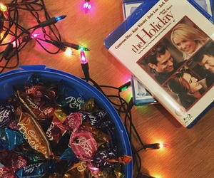 light, candy, and christmas image