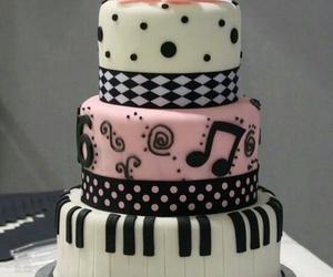 cake, music, and pink image