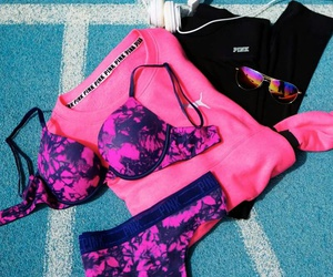 pink, Victoria's Secret, and lingerie image