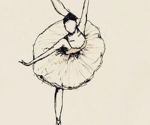 ballet, drawing, and dance image