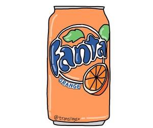 fanta, overlay, and orange image