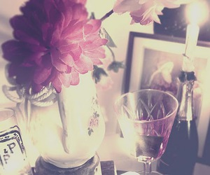 flower, vintage, and glass image