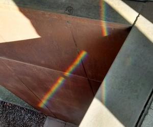 rainbow, yellow, and arcoiris image