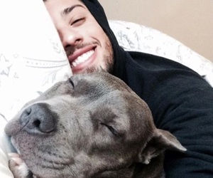 smile, dog, and goals image