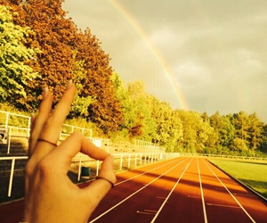rainbow, sports, and summer image