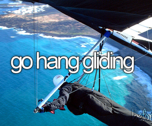 before i die, bucket list, and hang gliding image