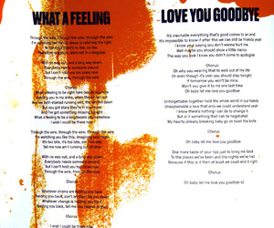 Lyrics, one direction, and what a feeling image
