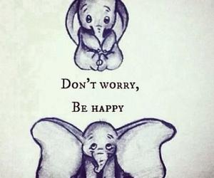 happy, dumbo, and disney image