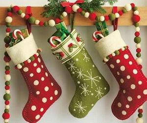 christmas, stockings, and holiday image