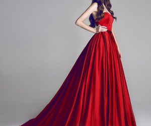 dress, red, and red dress image