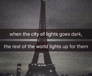 dark, sadness, and pray for paris image