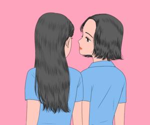 art, girls, and illustration image