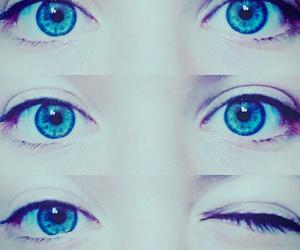 blue, eyes, and i image