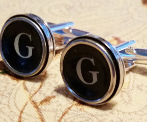 etsy, silver cuff links, and cuff links image