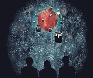 doctor who, tardis, and david tennant image