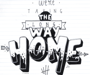 5sos, long way home, and Lyrics image