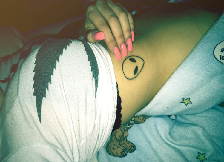 alien, tattoo, and love image