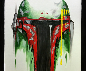 art, boba fett, and star wars image