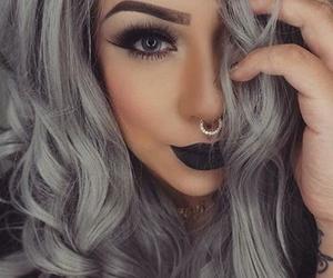 hair, girl, and make up image