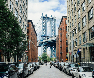 Manhattan Bridge, new york city, and photography image