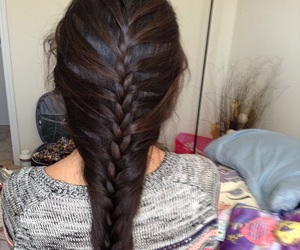 beautiful hair, braid, and hairstyle image