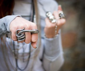 ring, fashion, and snake image